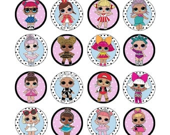 EDIBLE  LOL Dolls Series 1 Cupcake Toppers