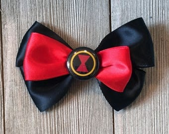 Black Widow Hair Bow