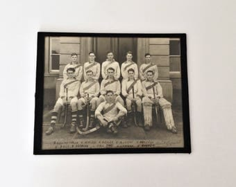 Old photograph of a college hockey team - Ca. 1930