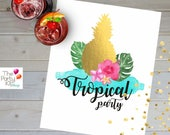 Tropical Party Table - De...