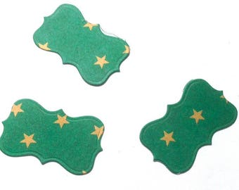 3 panel cut-out cardboard green star dies