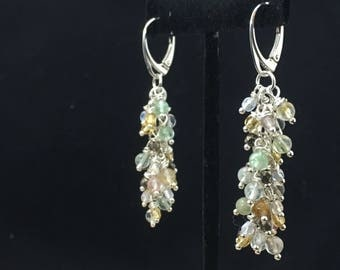 Beaded cascasing earrings