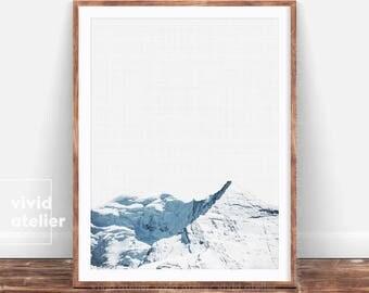 Landscape Print, Mountain Print, Alps Print, Mountain Wall Art, Minimalist Printable, Minimalist Art, Modern Photography, Nature Print