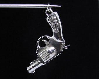 Silver Colt 45 Revolver pendant Sterling silver 925