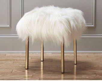 Awesome Sheepskin Chair Cover Seat Pad White Long ,soft Wool
