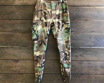 Vintage Army Camouflage Skinny Pants