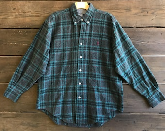 Vintage 90s Plaid Flannel Shirt