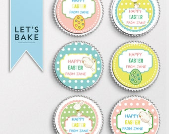 Easter cake topper, easter cupcake toppers, Easter, Easter cake decorating, Easter cake, Easter cupcake, Easter party, Easter party favor