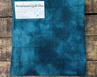 Hand-dyed Wool Fat Quarter -- Deep Teal -- FQ 1249