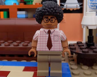 Moss from the IT Crowd custom made minifigure made from Lego parts