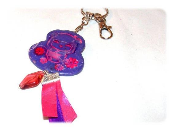 Jewelry bag or Keychain Miss kokeshi ஜ