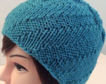 Turquoise Knit Beanie, Knit Beanie, Beanie Hat, Knit Turquoise Beanie, Christmas Gift, Winter Beanie, Winter Hat, Women's Hats,