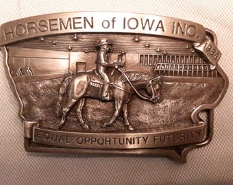 Limited Edition Numbered Western Belt Buckle 1986