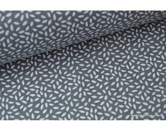 Printed cotton fabric design wheat anthracite x50cm