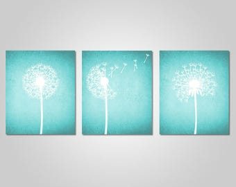 Teal Wall Art Gorgeous Teal Wall Art  Etsy Decorating Design