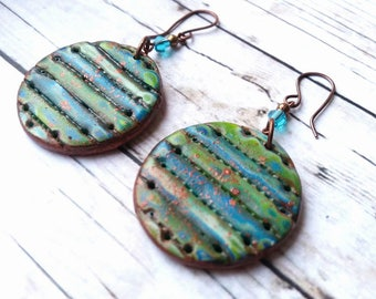 Polymer clay earrings,Colorful earrings,Handmade jewelry