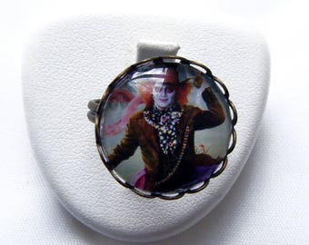 """Cabochon ring johnny Depp """"the Mad Hatter"""" Alice in the Wonderland"""
