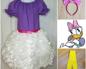 Daisy Duck Costume, Daisy Duck Birthday, Daisy Duck Halloween Costume, Disney Daisy Duck, Purple Daisy Duck, Daisy Duck Dress up