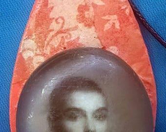 Sinead O'Connor Decoupage Necklace