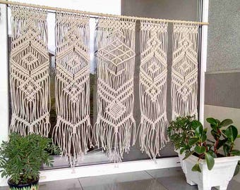 Nice Macrame Curtain /custom Macrame/ Wall Hanging /bohemian Doorway Curtain  Boho/Wedding Backdrop