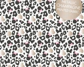 Minnie Mouse Leopard print in black or grey Cotton Fabric