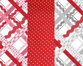 Valentines Cotton fabric Bundle