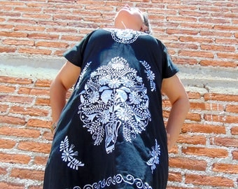 Mexican Dress, Traditional Mexican Dress, Black Mexican Dress, Frida Kahlo Dress, Oaxacan Dress, Mexican Dresses, Mexican Dress Women