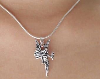 Fairy Pendant, Real Silver Charm, Silver Fairy Charm, Pendant, Minimalist Jewelry, Free Spirited Jewelry, Delicate Pendant, P52