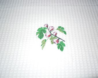 white tea towel in cotton d bees nest