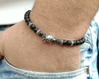 Mens Bracelet Men Bracelete bracelet perle homme Beaded Men Bracelet Charm Bracelet Mens Beaded Bracelet Men's Bracelets black onyx 6mm