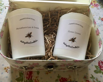 White glass container scented candle | Special offer | Scented wax | beeswax blend | Reduced Price | End of stock sale |