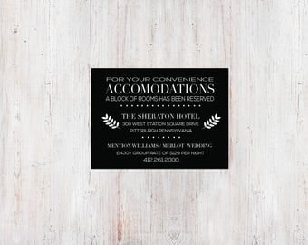 Monochromatic Twigs Accommodation Card