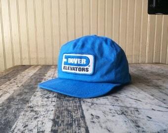 Vintage Dover Elevators Workwear Snap Back Hat
