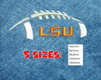 Embroidery Design  Louisiana State University Tigers LSU | FOOTBALL LOGO | 5 sizes | Download Machine embroidery design