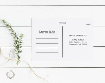 Postcard Backer to Save the Date, Invite or RSVP enclosure card:  Add-on to an existing order