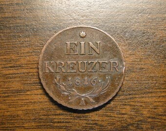 1816A Austria One 1 Kreuzer - Great Old Coin!  #515