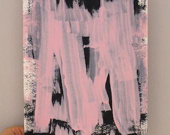 "Acrylic on paper ""push"" 24 x 32 cm Modern Art original acrylic painting"