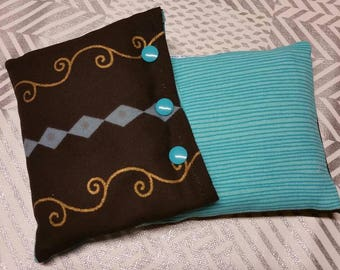 Heating pad flax seed for natural pain relief and to keep warm you during the cold.