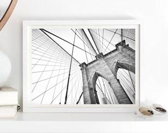 brooklyn bridge print, New York print, brooklyn bridge poster, new york poster, NYC poster print, NYC print, NYC poster, downloadable prints