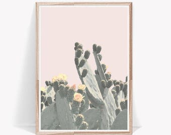 Cactus Print,Pastel Print,Prints Wall Art,Succulent Print,Art Prints,Pink Wall Art,Wall Decor,Room Decor,Cactus Art,Home Decor,Digital Print