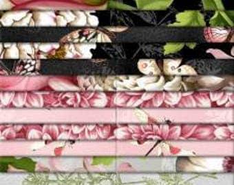 "Tivoli Garden 40 Karat Crystal by Anne Rowan for Wilmington Prints, jelly roll, 40 2.5"" strips, Q840-500-840, precut fabric, quilting"