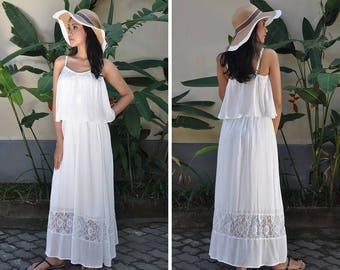 Maternity Dress, White Dress, Baby Shower Dress, Nursing Dress, Maternity Photoshoot Dress, Gift, Dress with Lace and Crochet, Summer Dress