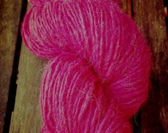 Pure Wool Hand Dyed with Cochineal Dye