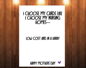 Funny humour mothers day card 02