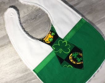 Precious St. Patrick's Day Baby Bib - Cute Shamrock Baby Bib - Baby Boy Bib St Pattys Day Bib - Cute Baby Shower Gift