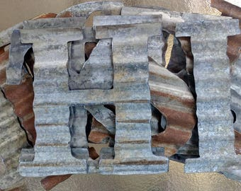 Small to Extra Large Corrugated Metal Letters