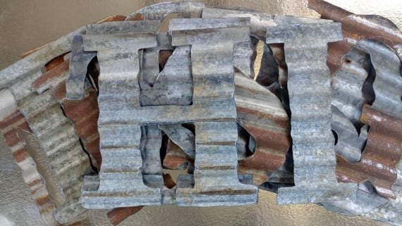 Corrugated Steel Letters Small To Extra Large Corrugated Metal Letters