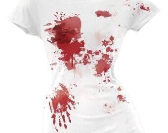 Halloween Blood Splatter Juniors T-Shirt