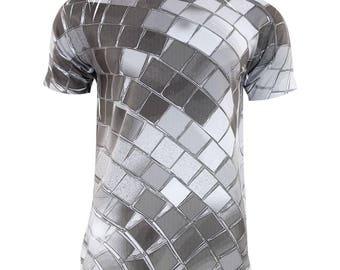 Non Metallic Disco Ball All Over Adult T-Shirt