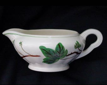 Blue Ridge Gravy Boat DEWBERRY Pottery Sauce Bowl Vintage Handpainted Southern Potteries Colonial IVY Dinnerware (B31) 9932